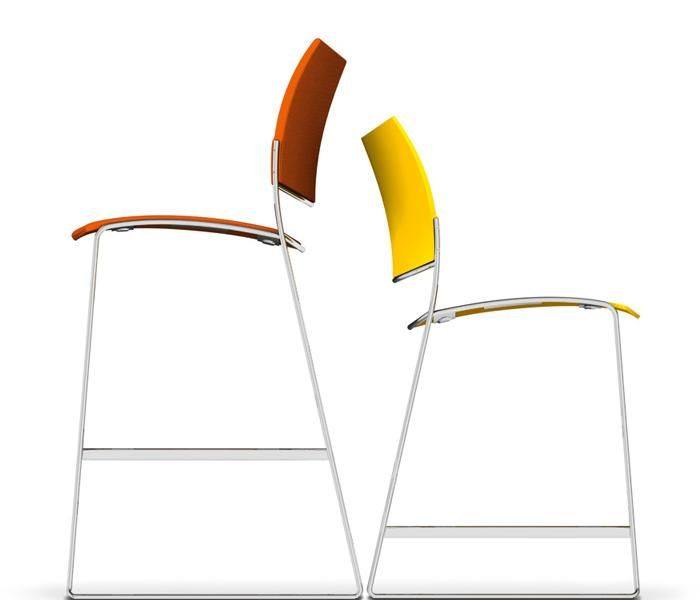 Curvy | UCI Stool, by Casala in The Netherlands. Designed by Sigurd Rothe. 2 seat heights. Variety of material and upholstery options. uci.com.au