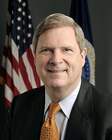 "Thomas James ""Tom"" Vilsack (/ˈvɪlsæk/; born December 13, 1950) is an American politician who has served as the United States Secretary of Agriculture since 2009. A member of the Democratic Party, Vilsack served as the 40th Governor of Iowa from 1999 to 2007.  On November 30, 2006, he formally launched his candidacy for the Democratic Party's nomination for President of the United States in the 2008 election, but ended his bid on February 23, 2007.[1]"