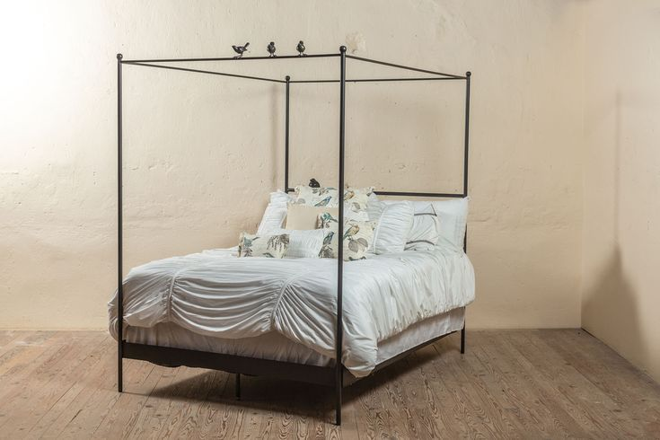 Bird On A Wire Wrought Iron Canopy Bed Iron Canopy Bed Wrought Iron Beds Bed