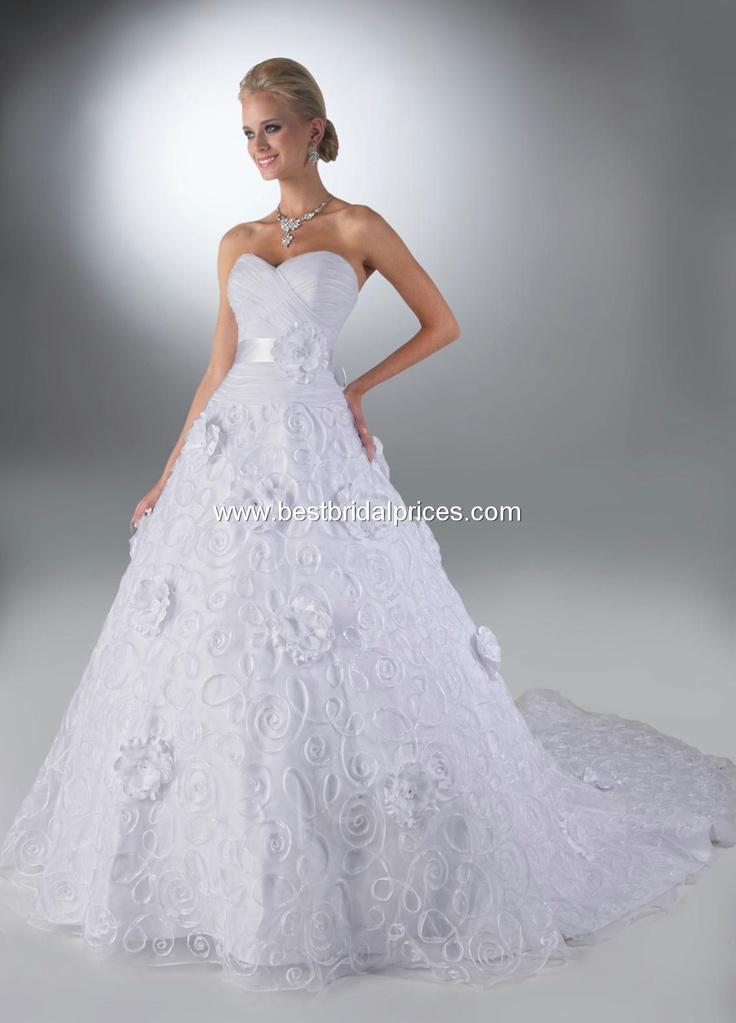 Davinci Wedding Dresses - Style 50088  LOVE the swirls on the skirt, ribbon on waist and sweetheart neckline!!!
