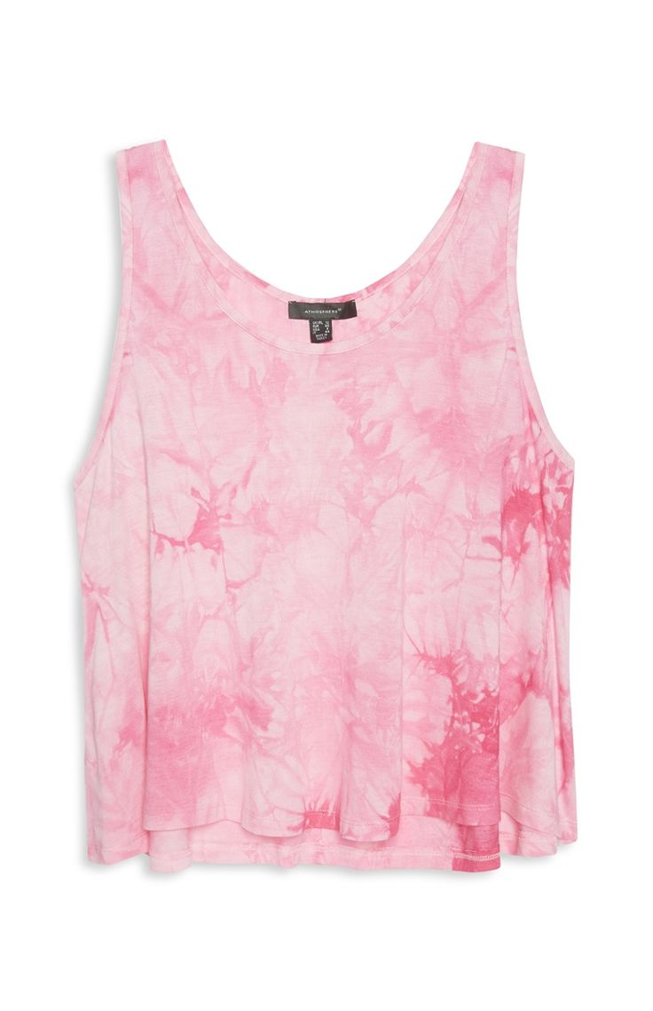 Roze hemd tie-dye
