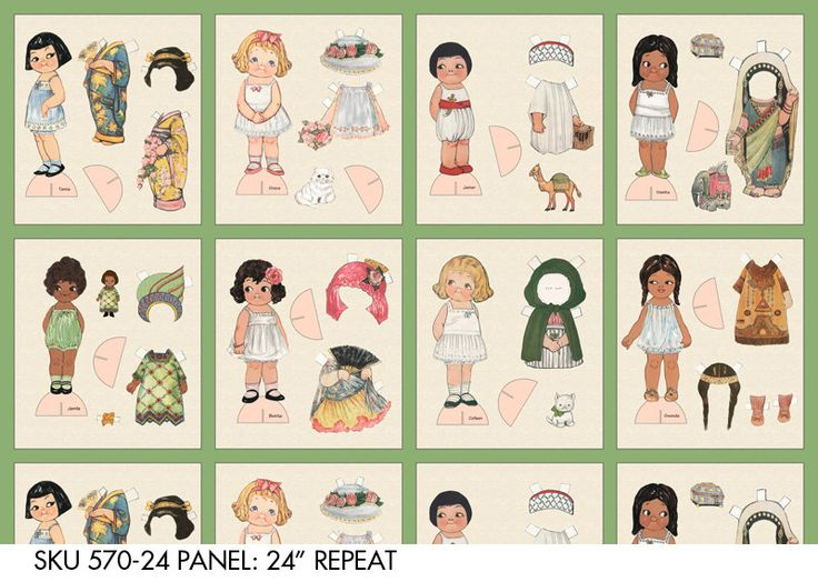 NEW-Ethnic Paper Dolls by Sibling Arts Studio, 8 Different Dolls w/ Stands and Clothes