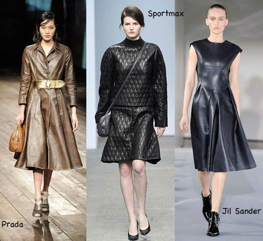 Leather rebel! yes, come winter and leather is back in fashion for both men and women.