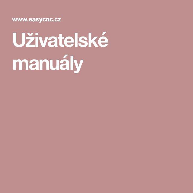 Uživatelské manuály