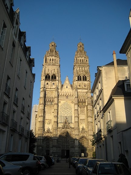 Saint Gatien's Cathedral in Tours - Loire Valley, France. I attended a Catholic Mass here in 1979.
