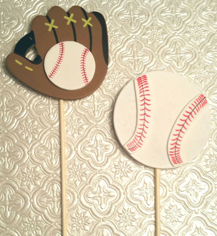 Baseball ball glove pitcher catcher umpire theme layer wood topper decoration cake centerpiece cupcakes birthday party favor baby shower by ClassyFabCharm on Etsy https://www.etsy.com/listing/239604832/baseball-ball-glove-pitcher-catcher