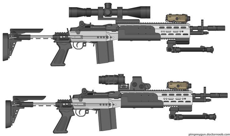 M14 EBR (Enhanced Battle Rifle) Mk14 Mod 0 =civilian ... M14 Ebr Rifle