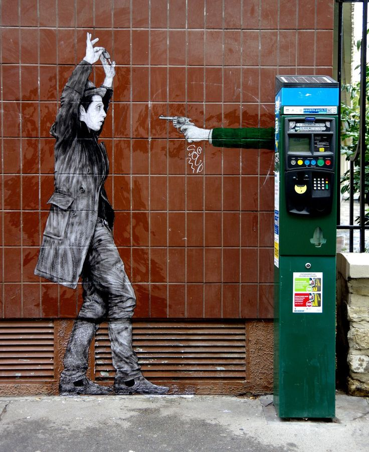 """Hold Up"" by Levalet in Paris"