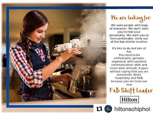 Be our new F&B Shift Leader! If you enjoy working in hotels