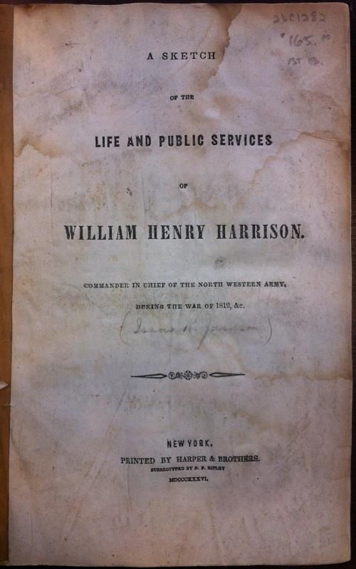 biography william henry harrison essay William henry ashley (ca 1778-1838), american businessman, fur trader and explorer, and politician, was a leading figure in the organization and operation of the rocky mountain fur trade during the 1820s.