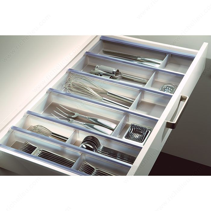 FINAL - non formal dining room cutlery drawer insert for built in - Cuisio Translucent Kit - Richelieu Hardware