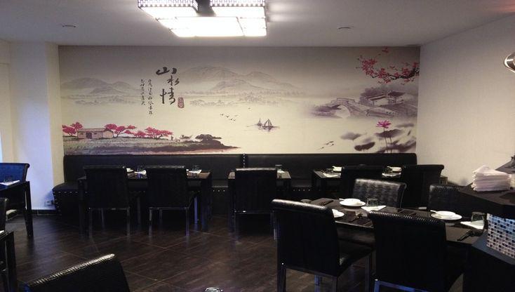 Décor minimaliste et élégant du restaurant : Le O d'Attente  dans le 13ème arrondissent de Paris  qui propose une gastronomie du Sichuan et de Shanghai. © Catherine Gary