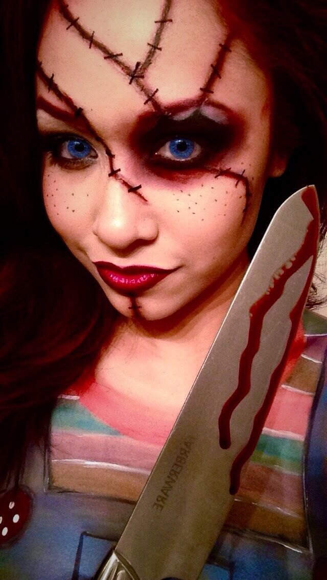 Chucky makeup and body paint made by myself. Mehron products used for this look
