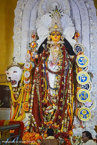 Idol of Aadi Maa- Laxmigunj Bajar, Chandannagar.   by Indya Unrevealed ( A Lonely Traveller)