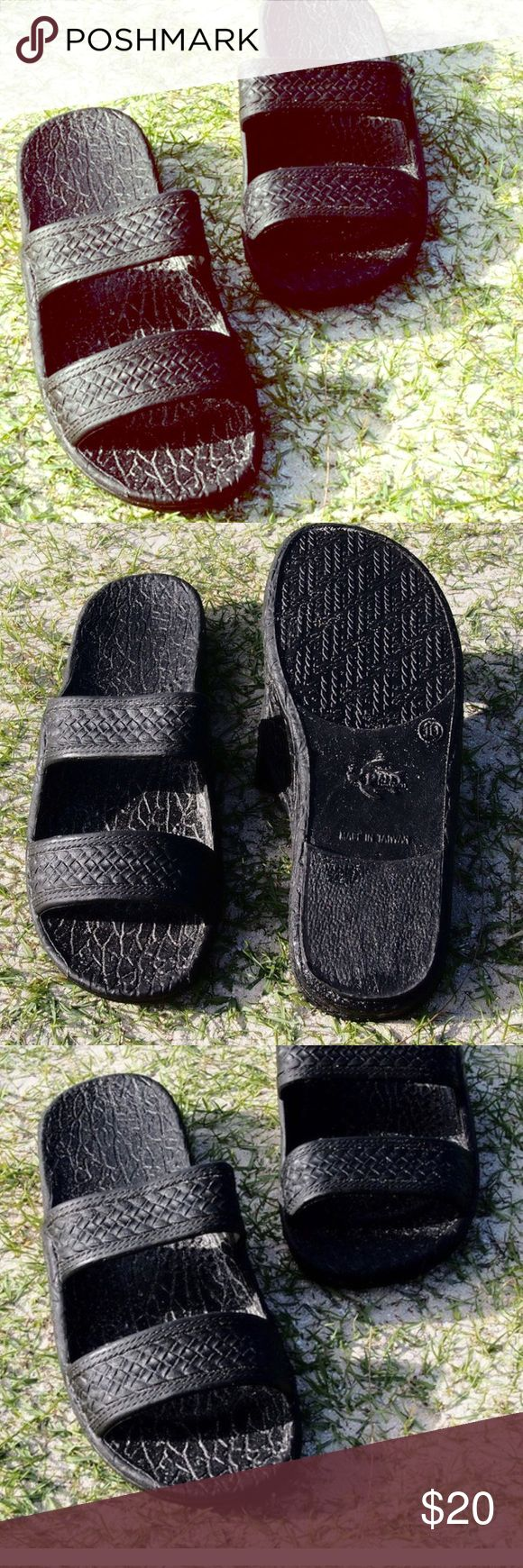 50% off bundles Jandals by Pali Hawaii• Sz 9• black Jesus sandals• these stylish and comfortable sandals have been worn in Hawaii since 1985• Hawaiian Jesus Sandals• lightweight and weave pattern sandals• vegan• arch support Pali Hawaii Shoes Sandals