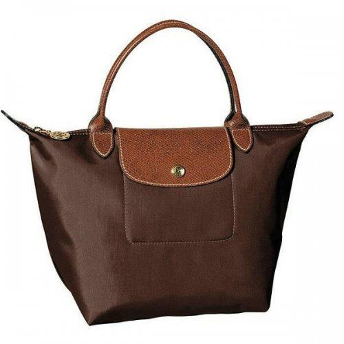 Cheap Longchamp Le Pliage Small Tote Bags Chocolate
