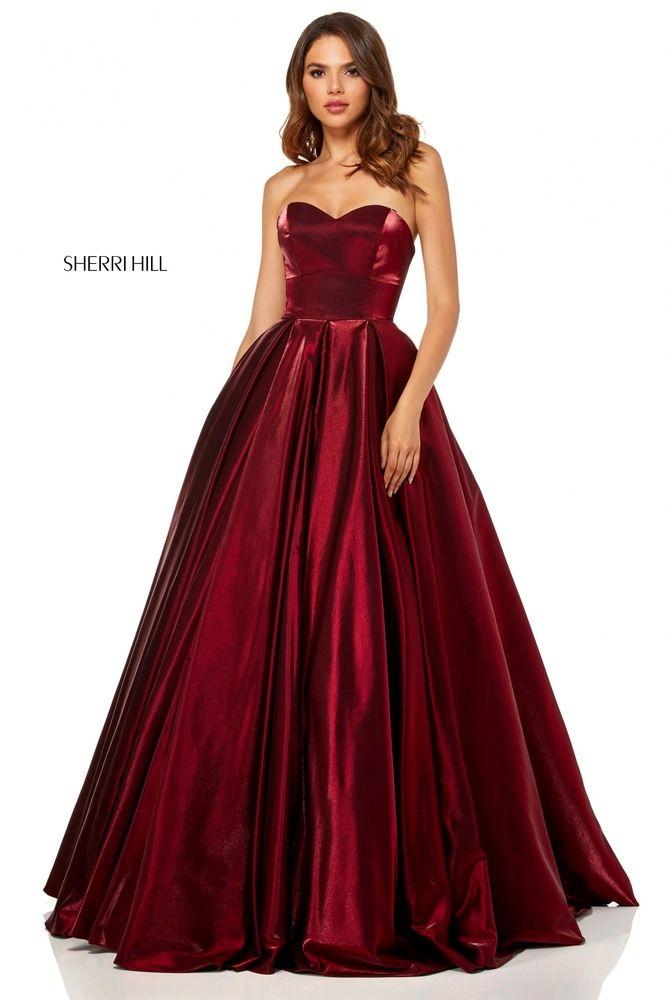 Red Ball Gown Sherri Hill Prom Dresses