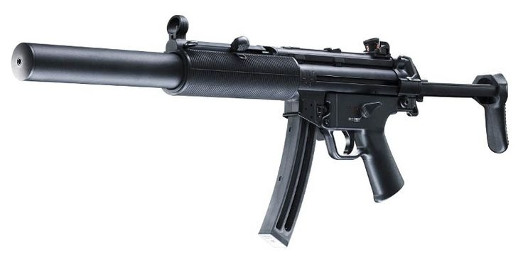 WIN a H&K Model MP5 SD .22 Rifle 16.1 Inch Barrel Retractable Stock SD-Type Forearm Pistol Grip Adjustable Sights