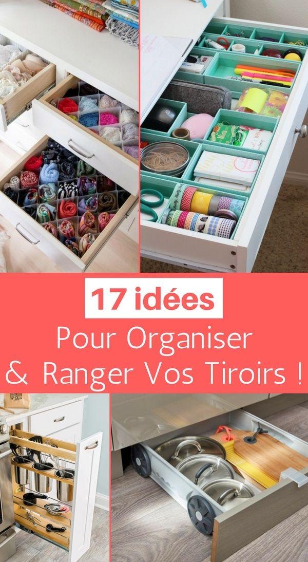 17 Idées à Copier pour Organiser et Ranger Vos Tiroirs ! http://www.homelisty.com/organisation-rangement-tiroirs/