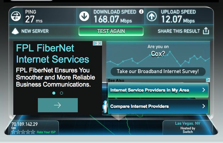 Does More Internet Speed Have A Positive Impact on Productivity? I could tell the difference right away as the new cable modem came into service, and oh, by the way, you will need somebody at your ISP to authorize your new cable modem by serial number and MAC address... I bit of a pain in the butt... Yet the results are well worth it.  Check out some of my initial speed test results in the charts below: