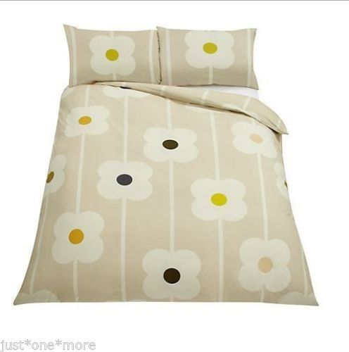 Orla Kiely Giant Abacus 3pc Queen Duvet Set Floral Natural