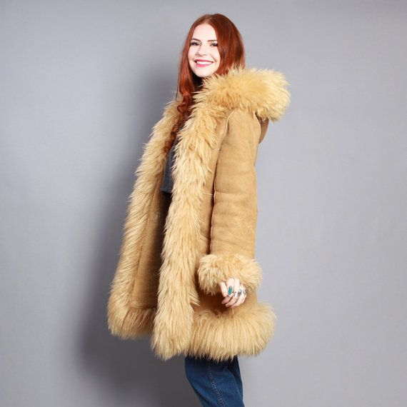 1000  images about sheepskin on Pinterest | Coats Fur trim coat