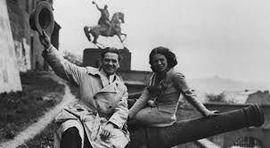 Eugeniusz Bodo and Nora Ney, 1934, Cracow. Polish silent movie stars
