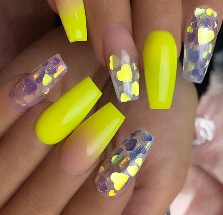 Gelbe Acryl Sarg Nagel Design Gelbe Gel Nagel Design Pastell