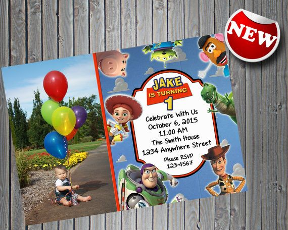 Toy Story Invitation with Photo  Printable Toy by PrintsForParties