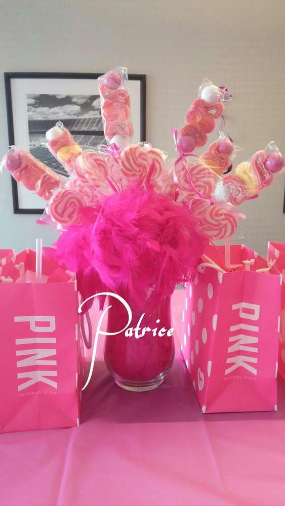 Victoria's Secrete PINK Birthday Party Ideas | Photo 6 of 10 | Catch My Party