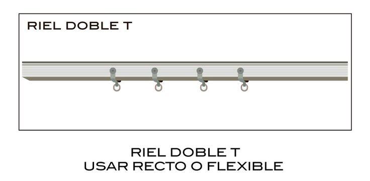 RIEL DOBLE T RECTO