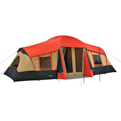 Large C&ing Tent 10 Person 3 Room Outdoor Family Shelter Built-In Mud Mat Gear  sc 1 st  Pinterest & 7 best Large Family Camping Tent images on Pinterest | Family ...