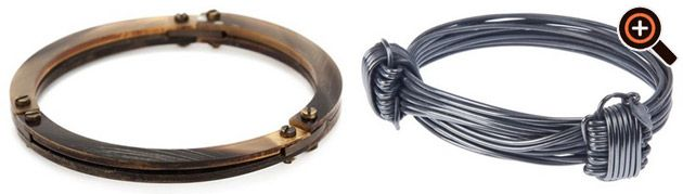 Armband für Herren in silber & aus Leder von Diesel, Michael Kors, Armani & Margiela