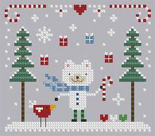 The Floss Box | Christmas Bear Cross Stitch