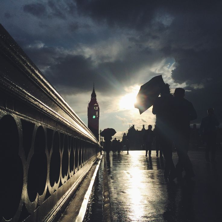 Late evening sun breaks through the storm clouds over Big Ben in London #BurberryWeather 13°C   55°F