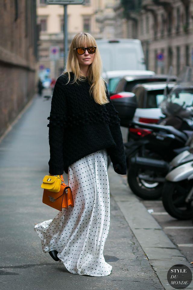 Paris Fashion Week Fall 2017 Street Style: Jeanette Friis Madsen