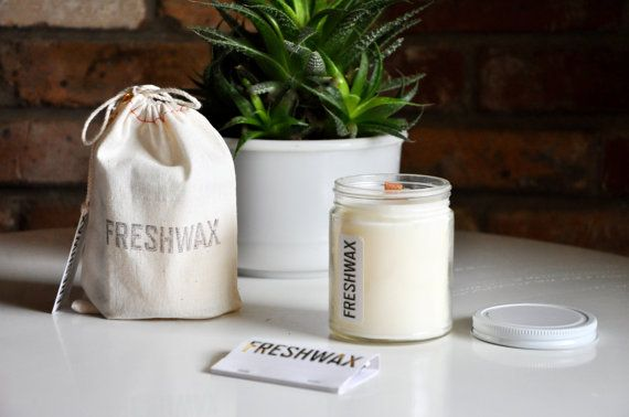 Essential Oil Candle: Anise + Orange Soy Candle, FRESHWAX Scented Candle, Wood Wick, Essential Oils and Phthalate Free Fragrance Oils