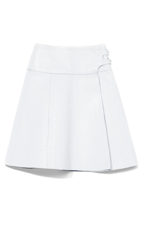 Ostrich Wrap Skirt With Side Buckle by Proenza Schouler