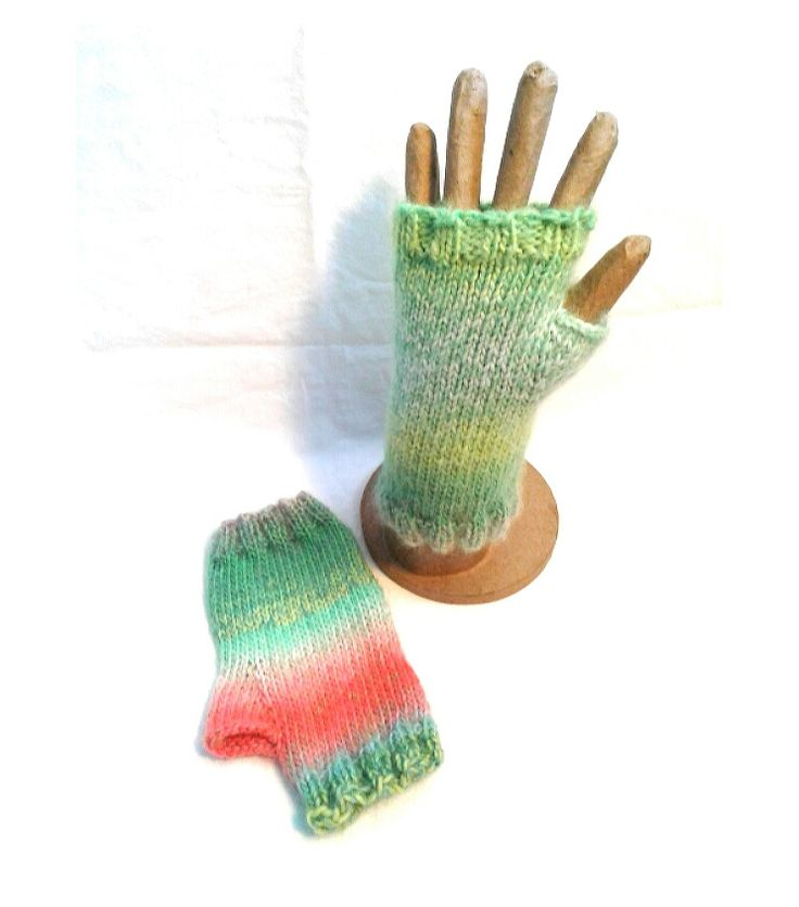 Watermelon Fingerless Gloves - Mint by Design