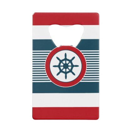 Nautical design credit card bottle opener - kitchen gifts diy ideas decor special unique individual customized