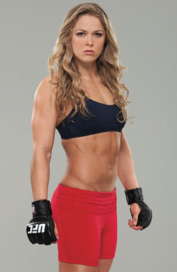 Workout inspiration, Rhonda Rousey - First female UFC fighter. Somedays I'd like to punch people for a living.