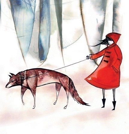 this is wonderful!! - Little red riding hood print by Emma Sancartier on Etsy
