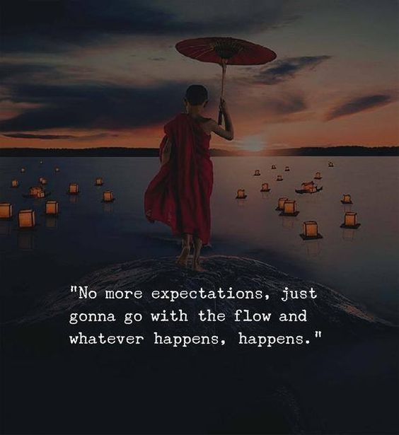 No more expectations.....