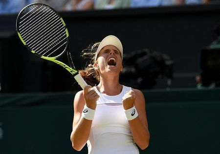 By Simon Evans  LONDON (Reuters) - Britain's Johanna Konta pulled out all the stops to win an enthralling, marathon, second round contest against Croatian Donna Vekic 7-6(4) 4-6 10-8 on Wednesday.  In one of the best matches of the tournament so far, which lasted three hours 10 minutes, Vekic'