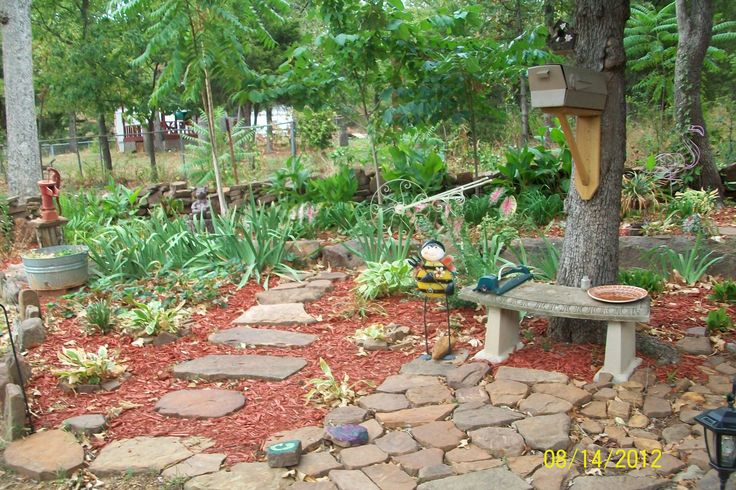 Rock Garden Entrance Would Love To Replace Mulch With