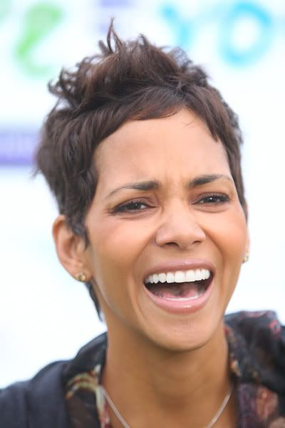 Halle Berry laughing warms my heart to see this fine ass woman happy!!''