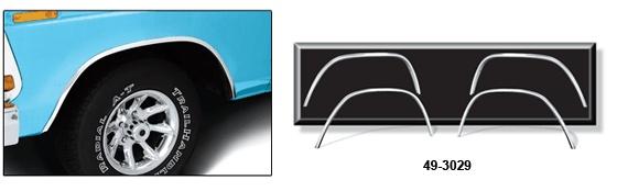 OE Style Aluminum Wheel Arch Molding Kit