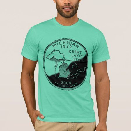 Michigan State Quarter Apparel T-Shirt - click/tap to personalize and buy