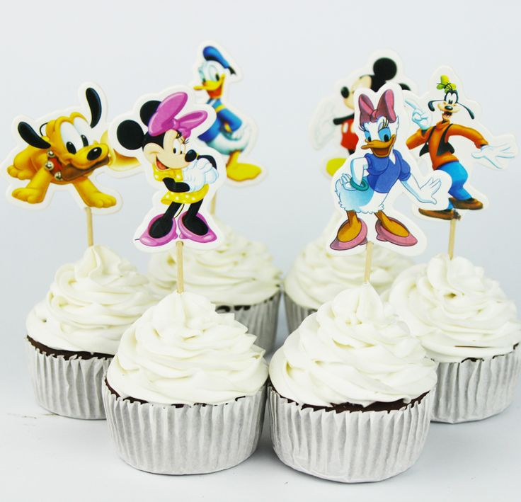 Mickey & Minnie Mouse Cupcake Toppers //Price: $10.95 & FREE Shipping //     #cakedecorating