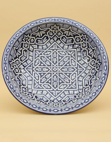 MEDIUM MOROCCAN FES DESIGN GLAZED BOWL Price: £90.00